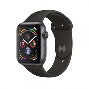 Apple Watch Series 4, Space Gray Aluminum Case with Black Sport Band 44mm, GPS