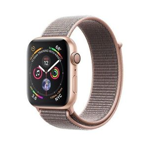 Apple Watch Series 4, Gold Aluminum Case with Pink Sand Sport Loop 44mm, GPS