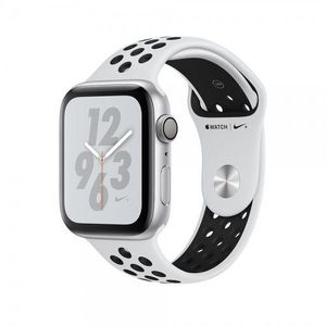 Apple Watch Serties 4, Nike + Silver Aluminum Case with Pure Platinum-Black Nike Sport Band 40mm, GPS