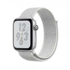 Apple Watch Series 4, Nike + Silver Aluminum Case with Summit White Nike Sport Loop 44mm, GPS