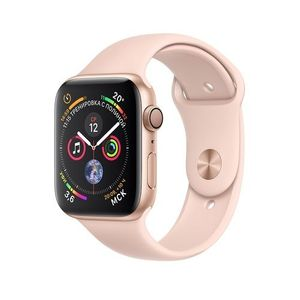 Apple Watch Series 4, Gold Aluminum Case with Pink Sand Sport Band 44mm, GPS