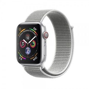 Apple Watch Series 4, Silver Aluminum Case with Seashell Sport Loop 44mm, GPS
