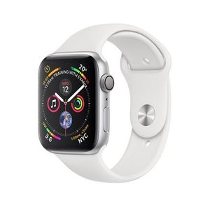 Apple Watch Series 4, Silver Aluminum Case with White Sport Band 44mm, GPS