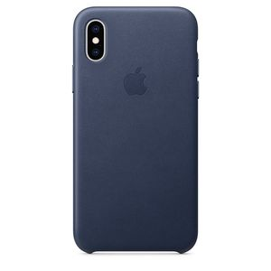 Apple iPhone XS Leather Case – Midnight Blue