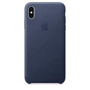 Apple iPhone XS Max Leather Case – Midnight Blue