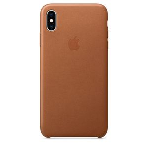 Apple iPhone XS Max Leather Case – Saddle Brown