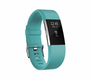Fitbit Charge 2 Teal Silver - Small
