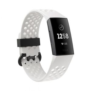 Fitbit Charge 3 Special Edition - Graphite, White Silicone