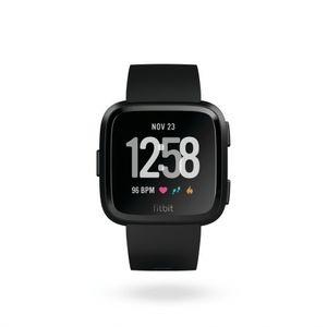 Fitbit Versa - Black, Black Aluminum