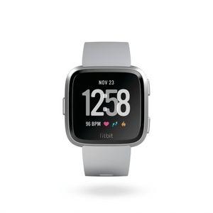Fitbit Versa - Gray, Silver Aluminum