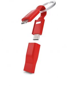 Vonmahlen High Five ABS 5in1 Charging Cable - Red